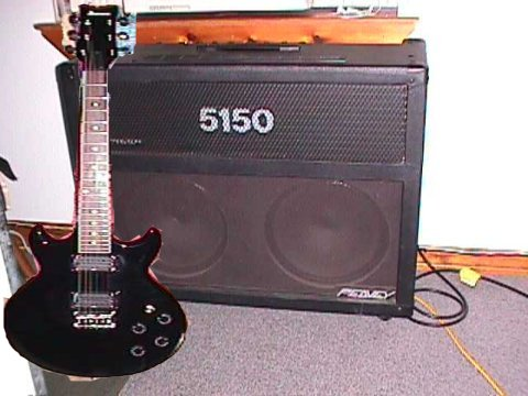 Ibanez Guitar and Peavey 5150 Amp